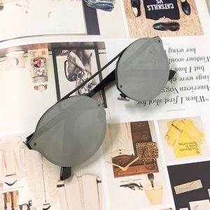 NWT - Silver Round Sports Sunglasses